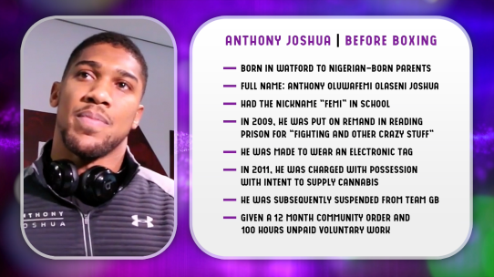 Anthony Joshua Infographic
